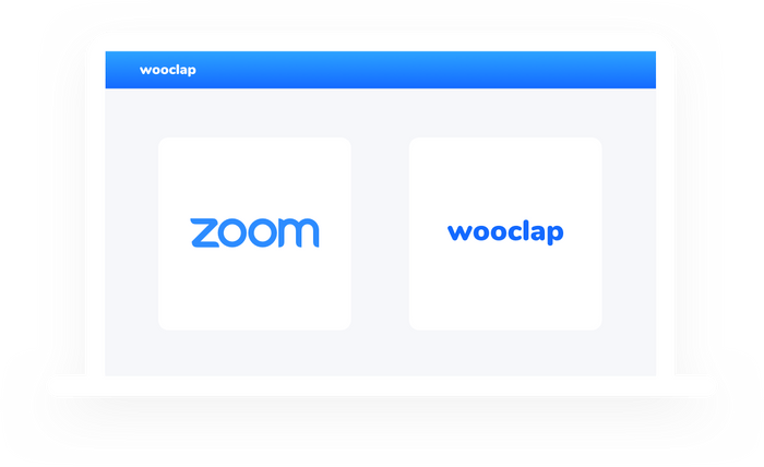 Wooclap during videoconferencing